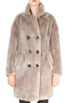 This is the stunning 'Dalya' Taupe Faux Fur Coat from our friends at Giovanni! SHOP NOW! Black Faux Fur Coat, Taupe, Beige, Sheepskin Coat, Shop Now, Jewellery, Clothing, Jackets, Shopping