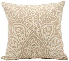 "Kathy Ireland Luxury 18"" Square Blush Pillow 