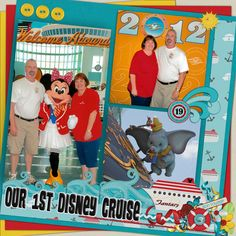 Our Disney Cruise - MouseScrappers - Disney Scrapbooking Gallery Disney Halloween Cruise, Disney Dream Cruise, Disney World Trip, Scrapbook Paper Crafts, Scrapbook Cards, Disney Cruse, Cruise Scrapbook Pages, Disney Magic, Scrapbooking Layouts