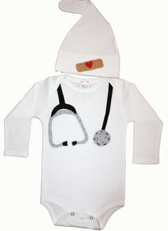 A personal favorite from my Etsy shop https://www.etsy.com/listing/176750933/applique-doctor-stethoscope-onesie-and