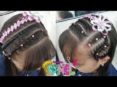 PEINADO INFANTIL/ DIADEMA CON TRENZAS Y ENCINTADO DE LAZOS/ Peinados Rakel 65 - YouTube Diana, Hairstyle, Beauty, Youtube, Bb, Female Hair, Anime, Hairstyles For Babies, Hairstyles For Natural Hair