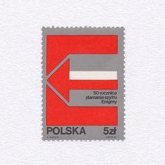 anniversary of breaking Enigma Poland, 1983 Design: A Barecki.
