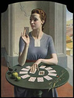 Meredith Frampton, UK (1894-1984), A Game of Patience