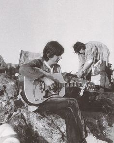 Gram Parsons and Keith Richards at Joshua Tree.