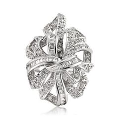 1.80ct Baguette and Round Cut Diamond Ribbon Right-Hand Ring List Price $5,195.00 Your Price $2,995.00
