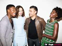 Star Wars: The Force Awakens cast. Finn Poe, Star Wars Cast, Tv Shows Funny, John Boyega, The Best Films, Disney Stars, Celebrity Portraits, Poses For Pictures, Star Wars Collection