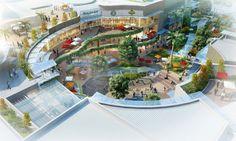 Shopping Malls in Asia - Page 76 - SkyscraperCity - Architecture Retail Architecture, Landscape Architecture Design, Architecture Visualization, Commercial Architecture, Architecture Plan, Plaza Design, Mall Design, Mix Use Building, Building Design