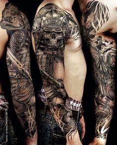 150 Brave Samurai Tattoo Designs And Meanings nice Check more at http://fabulousdesign.net/samurai-tattoo-design/