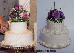 Jessie Raye's Miniatures - Preserve your Beautiful Wedding Day with a Wedding Cake Replica Ornament! Contact me with a photo of your wedding cake for a Free Quote and I'll replicate your wedding cake as an ornament or figurine! Please see my website jessierayesminiatures.com for contact information or to see more examples of my work!