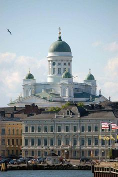 Helsinki Cathedral (lutheran), Finland - Beautiful church with a summer café in the crypt below.In front in the pic you can see The Baltic Sea Gulf of Finland. Places Around The World, The Places Youll Go, Travel Around The World, Great Places, Places To See, Around The Worlds, Voyager C'est Vivre, Beautiful World, Beautiful Places
