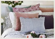 Mix and match your pillowcases to keep your bed looking fresh. 11 ways to create change both big and small in your home and life, by @Shannon Fricke