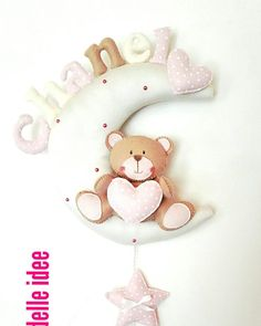Personalized birth Staple Size of the moon about 30 cm customization in colors Construction times range from one week to about 10 days