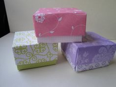 Mini Party Favor / Gift box  set of 3 paper origami by 2SweetBeans, $5.00