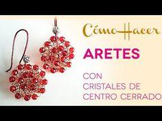 Como Tejer Aros con Alambre y Cristales con Centro Abierto - Tutorial de joyería - YouTube