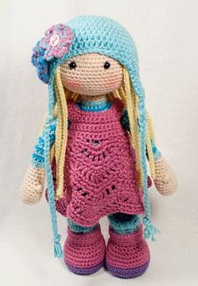 This listing is for an extensive PDF file which contains full instructions for crocheting and finishing off the doll SUE.