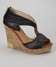 Look at this Bucco Black Auden Wedge on #zulily today!