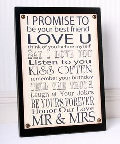 This Black 'Mr. & Mrs.' Canvas & Wood Wall Art is perfect! #zulilyfinds
