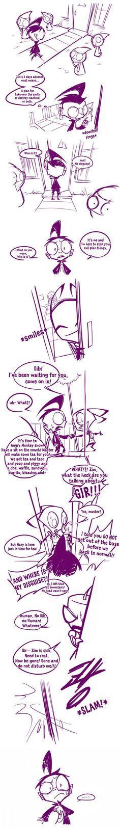 Zim-Gir Comics thingy by Naplez.deviantart.com on @deviantART: