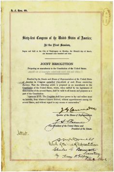 February 3, 1913 - The US Congress adopts the July 12, 1909 proposal of the Sixteenth Amendment to the Constitution, after Delaware became the 36th State to ratify it. This would allow Congress to levy an income tax without pportioning it among the states or basing it on the United States Census.This amendment exempted income taxes from the constitutional requirements regarding direct taxes. #history #amendment #tax