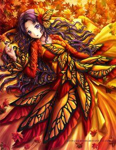 Autumn Butterfly by Eranthe on DeviantArt