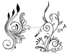 simple flower line drawings - Google Search