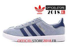 Adidas Homme Chaussures Originals Gazelle Prix Pas Cher Bleu Blanc  BA7656-BA7656-Adidas Superstar