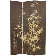 """70.25"""" x 46.5"""" Bamboo Tree Frameless Design 3 Panel Room Divider"""