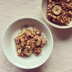 Porridge au four banane