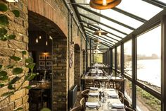 The Depot offers riverside dining