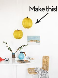 Make a Modern Paper Lamp Shade