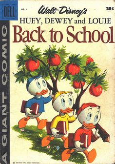 Back to School with Huey, Dewey and Louie. Pick up a few good back-to-school Golden Books and prepare your little one for the upcoming school year!