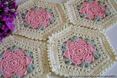 Evlynpartage: TUTO Hexagone et pentagone au crochet