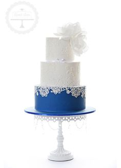 "How's the bottom tier of your cake for your ""something blue?"""