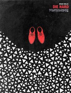 """#movie #poster #design ~ Graphic design // """"Die Hard"""""""