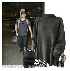 """Arriving at LAX w/ Luke"" by amberamelia-123 ❤ liked on Polyvore featuring Elizabeth and James, adidas and River Island"