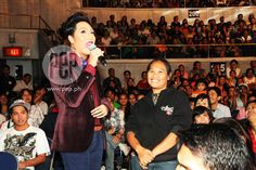 "This is Vice Ganda doing a hosting stint and some stand-up comedy at the audience section at the ABS-CBN 2011 Christmas Special, ""Da Best ang Pasko ng Pilipino"" last December 2011 at Smart Araneta Coliseum. Vice Ganda, Battle Cry, Quezon City, Stand Up Comedy, December, Abs, Christmas, Xmas, Crunches"