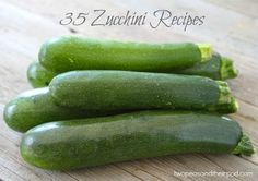 35 Zucchini Recipes. This is going to be so handy for zucchini season!