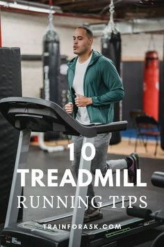 The treadmill can be a race trainer's best friend when used properly, check out these ten tips for running on a treadmill to make your workout more efficient and more enjoyable. While everyone knows how to use a treadmill to some degree, many don't realize how to get the most out of their treadmill workout or utilize it as an effective race training tool. Home Exercise Bike, Home Workout Equipment, Fitness Equipment, How To Start Running, Running Tips, Beginner Running, Race Training, Strength Training, Running Techniques