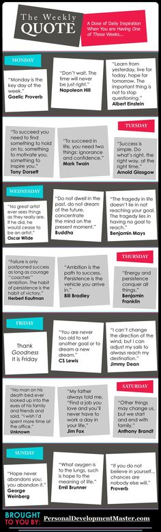 The Weekly Quote: A Dose of Daily Inspiration - #infographic #quote