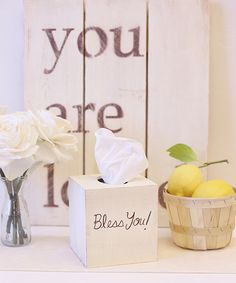 Another great find on #zulily! 'Bless You' Tissue Box Cover #zulilyfinds