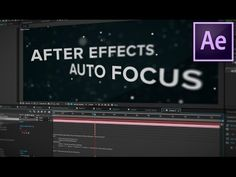 After Effects Tutorial: Link Focus Distance to Layer (Quick Tip) - YouTube