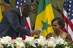 The President and First Lady attended an official dinner at the Presidential Palace in Dakar, Senegal.