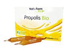 La propolis(la propolis a une action fortifiante, antiviral, anti-oxydante, antiseptiques, anti-bactériens, régénératrice)