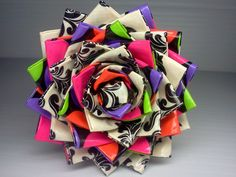 Duck Tape Flower Pen - Baroque/Neon