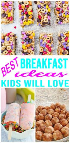 SUPER EASY quick breakfast ideas for kids! Tasty on the go ideas, school morning breakfast, healthy breakfast and more. Simple ideas even picky eaters will love. Breakfast ideas for toddlers, kids, teens and tweens. Check out all these amazing quick break Morning Breakfast, Breakfast For Dinner, Best Breakfast, Breakfast Recipes, School Breakfast, Brunch Recipes, Breakfast Toast, Breakfast Burritos, Healthy Breakfast For Kids
