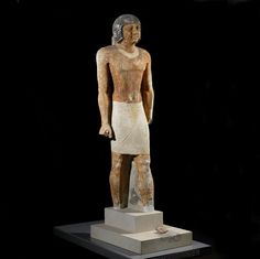 Painted limestone statue of Nenkheftka (with damage to feet). Mid-5th dynasty, c. 2450 B.C. (?)   The British Museum