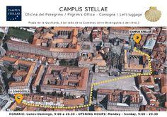 Deja tu mochila y bicicleta en un lugar seguro y económico. | Centro del Peregrino CAMPUS STELLAE. Consigna. LeftLuggage | www.oficinaperegrinocaminosantiago.com | info@campus-stellae.com | Santiago de Compostela
