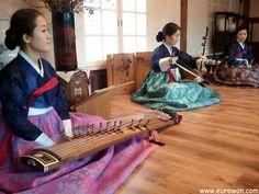 Actuación de Gugak, la música tradicional coreana.