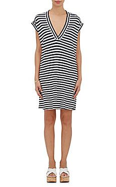 Striped Cotton T-Shirt Dress