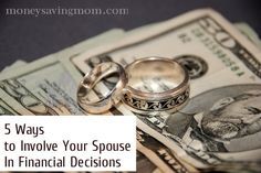 5 tips that could help your spouse to get more involved in your family's finances